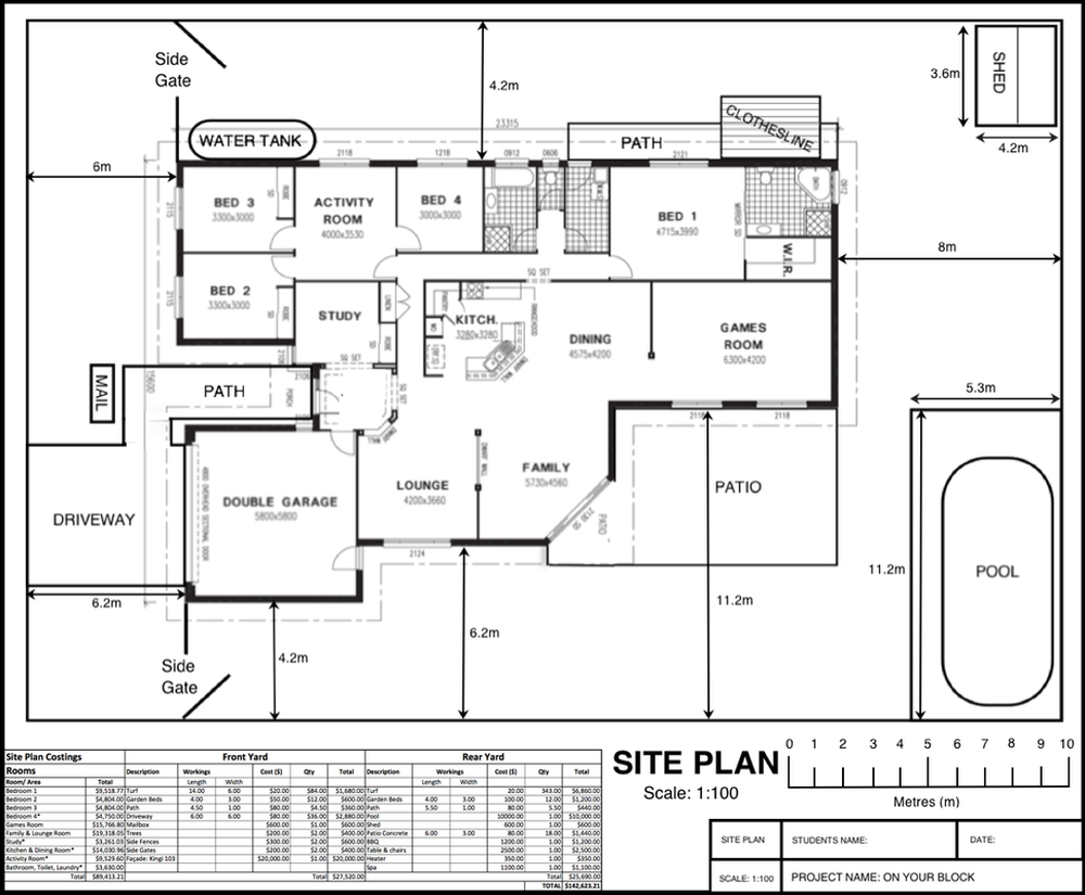 Site plan on your block Floor plan design website